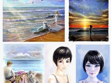 5 samples of children's illustration