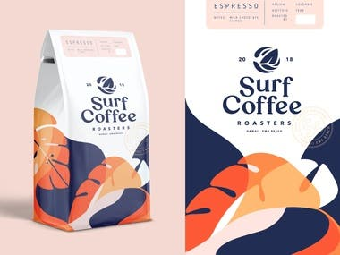 Packaging Design for Coffee brand