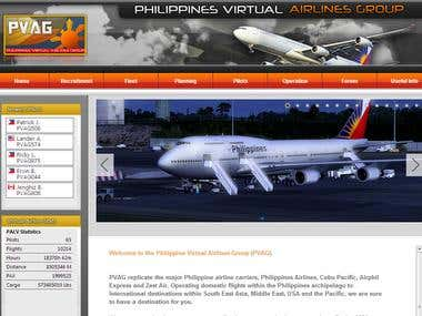 Philippines Virtual Airlines Group - Website