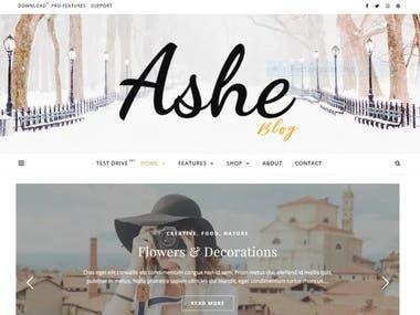 Ashe WordPress Blog