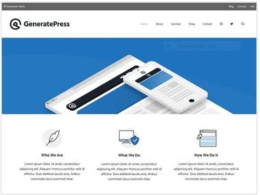 GeneratePress is a lightweight WordPress