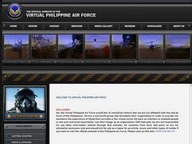 Virtual Philippine Air Force - Website