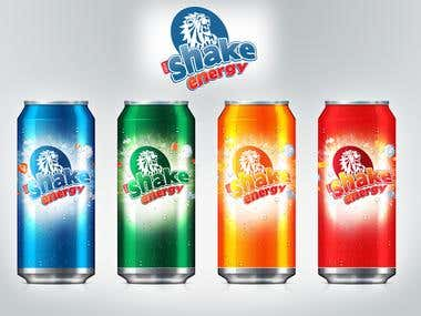 Shake Energy Drink Packaging Design