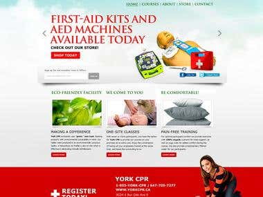 York CPR Training website design