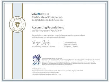 Accounting Foundations Certificate