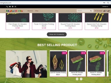 Wooden printing E-Commerce on Woocommerece