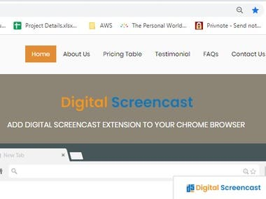 Digital Screen cast ( Screen recording tool extension )