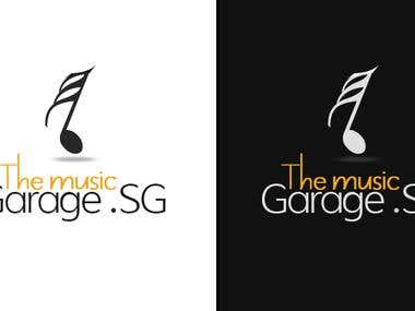 "Logo design for ""The music garage"""