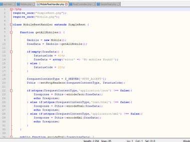 PHP API, CLIENT SERVER,