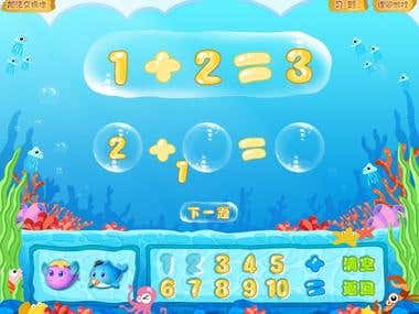 MathFish with xcode for ios ,Unity3d for android/web/flash/