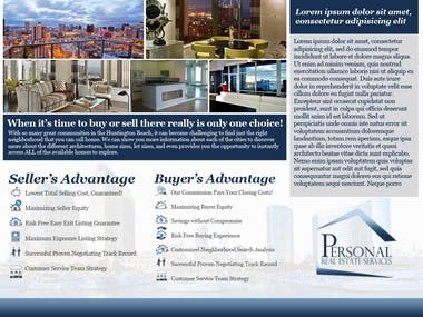 Real Estate Brochure/Flyer Design
