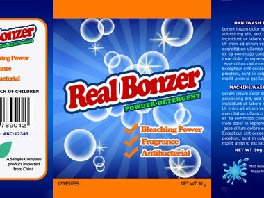 Real Bonzer Laundry Soap Product Packaging