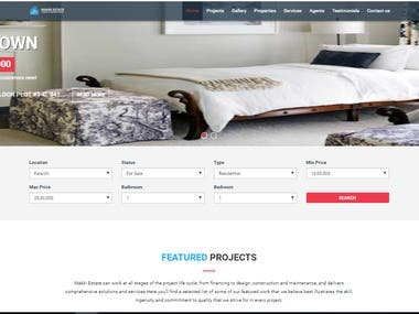 Designed a a web app for Estate agency