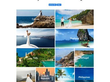 React.js - Wedding site