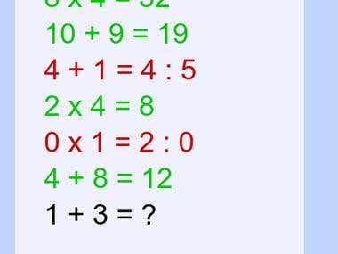 Math problem game