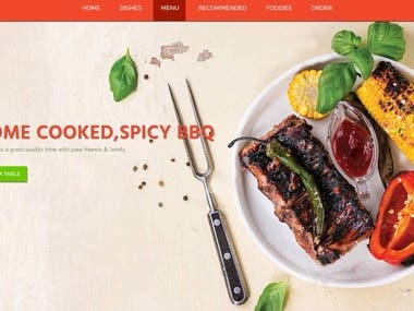 Food factory Website