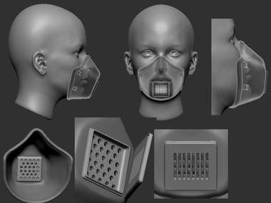 Face mask 3d modeling for 3d printing