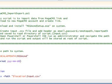 Import Data from MegaCMD link and Upload to MegaCMD NewAccnt