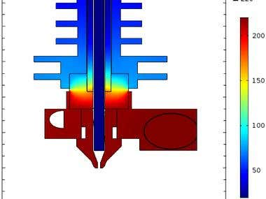 Heat transfer in 3D printer cartdrige