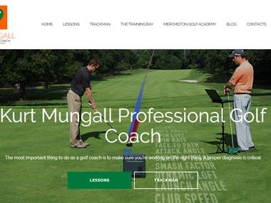 Build Website using WordPress - www.kurtmgolf.com