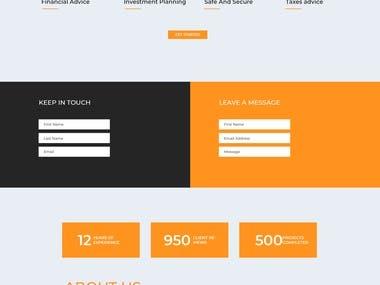 divi theme landing page