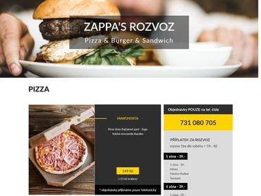 Web design, front-end and Wordpress theme