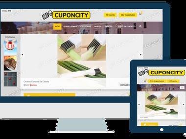 Sitio y App Web - CuponCity