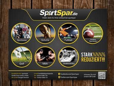 postcard for sportspar.de