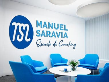Logotype for Manuel Saravia - Escuela de Coaching