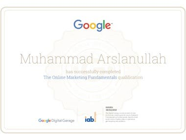 Certification for Digital Marketing | By Google & IAb Europe
