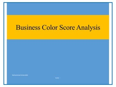 Business Color Score Analysis