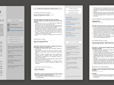 CV - powerpoint template