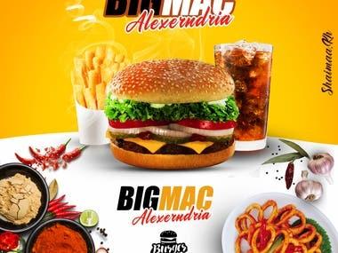 ads poster burger restaurant