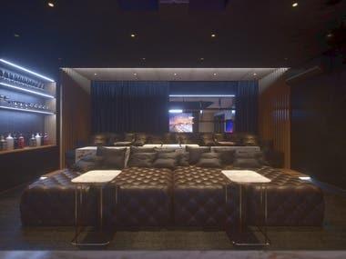 CINEMA ROOM - INTERIOR DESIGN , MODE
