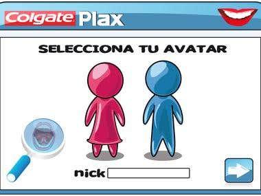 Colgate PLAX facebook app design