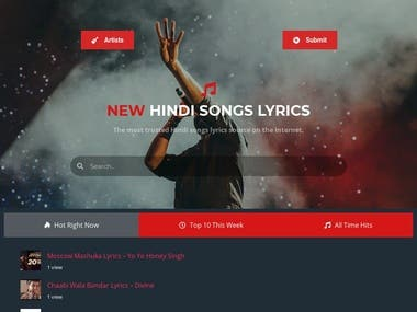 Lyrics Website