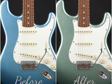 Color Change of Guitar