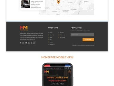 Website Design Desktop and Mobile view