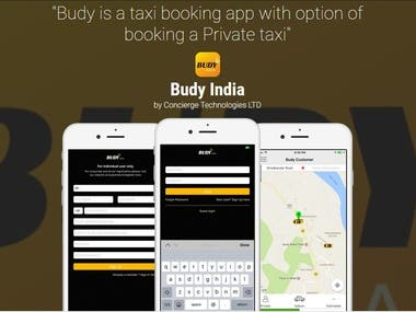 Budy Taxi Booking App like Ola and Uber
