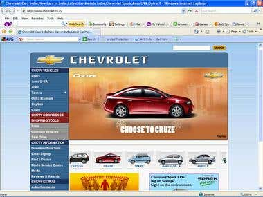 Website for Chevrolet