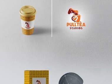 Pull Tea gaming Logo and packaging Design