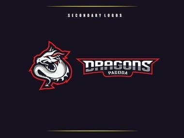 Dragons Pagoda Gaming Logo Design