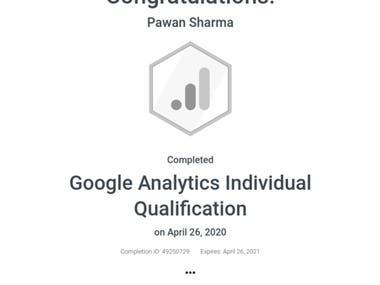 Google Analytic Certificate