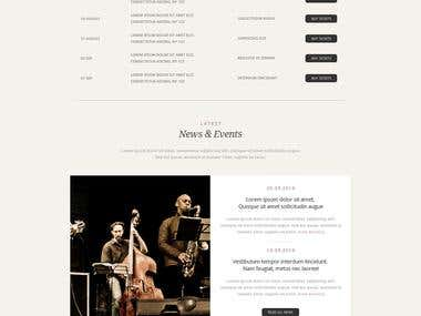 Music Band Artist Web front page (Home page PSD)