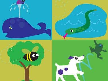 children's book vector illustrations