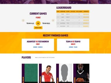 Sports 720 - Gaming Web Portal