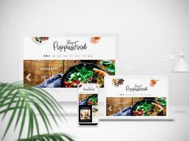 Restaurant or food service website