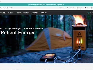 Shopify Bioliteenergy