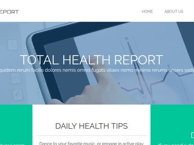 Total Health report