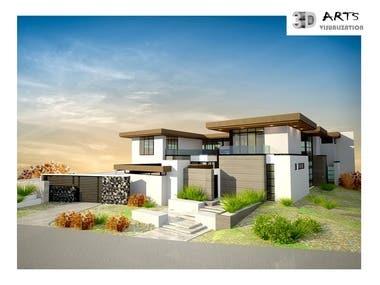 8. Exterior House facade Australia.